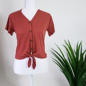 Caution To The Wind Button Detail Blouse